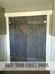 How to build barn wood closet doors for your home by The Contractor Chronicles