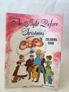"Elba Production  Vintage COLORING BOOK ""THE NIGHT BEFORE CHRISTMAS"""