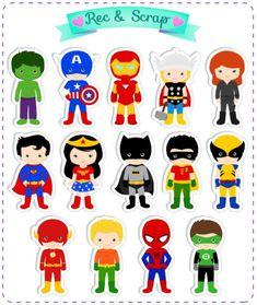 KIT CONTENDO 42 RECORTES DE 4 CM    Para ser usado em convites, cartões, tags, colher de doce, toppers, itens de festa personalizado ou onde mais sua imaginação criar.    ESPECIFICAÇÕES:  Quantidade: 1 kit = 42 unidades (o total é dividido entre os personagens em quantidades iguais).  Medidas: 4 ... Harry Birthday, Superhero Birthday Cake, Avengers Birthday, Superhero Party, Cool Backgrounds For Iphone, Fourth Of July Crafts For Kids, Superman Kids, Fathers Day Crafts, Felt Patterns