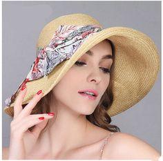 Fashion bow sun hat for women summer beach straw hats. AlasSombrerosMujeresSombreros  De ... 50af75d3c62