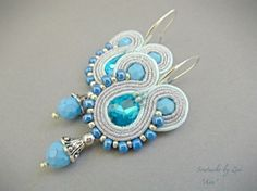 Sky Blue Silver Dangle Drop Earring Small by elrinconcitodezivi