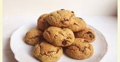 Cookies o galletas de plátano y pepitas de chocolate rellenas de dulce de leche (o también se podría rellenar de nocilla).