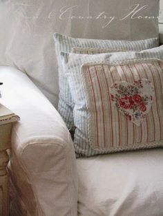 Living In A Simpler World...like the heart pillow.