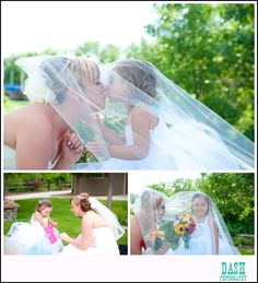 bride and flower girl pictures