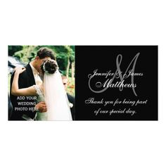 Monogram Thank You Cards Wedding Thank You Monogram and Message Card