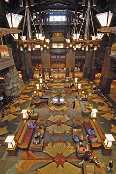 Lobby of the Grand Californian, via Flickr.