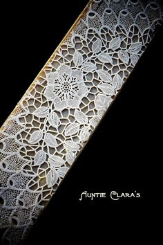 Awesome!   Aunt Clara's-Mexican Lace and How I Made A Silicone Texture Mat