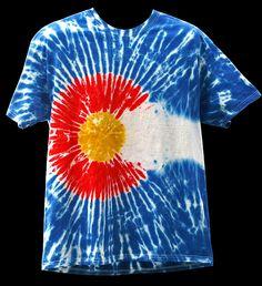 Original makers of Tie Dye Colorado Flag Gear since 2008 MandalaDyes.com!!!!