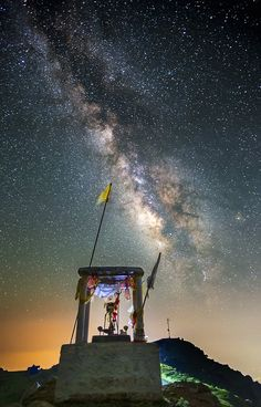 Milky Temple... - Milky Way Over Temple on Triund Hills Mcleod Ganj Dharamsala Himachal Pradesh India Nikon D4s