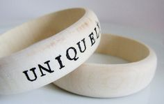 Personalised Wood Bangle  more choices to by UniquelyUJewellery, £20.00