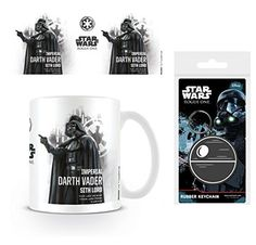 Set Star Wars Rogue One Darth Vader Profile Photo Coffee Mug 4x3 inches And 1 Star Wars Keychain Keyring For Fans 2x2 inches *** To view further for this item, visit the image link.