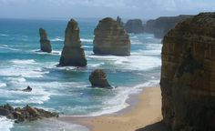 """""""The Great Ocean Road in Australia. What a breathtaking place."""" (From: 35 Beautiful Beaches You'd Love to Be On) Love inspiring travel photos like this one? Sign up for our newsletter and get vacation inspiration straight to your inbox: http://www.budgettravel.com/newsletter-signup/?src=pinterest"""