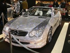 A diamond encrusted car! Yes please!!! Who wouldn't want to steal this!!!! <3 // Kala N. #TheBlingRing #PinToWin