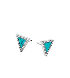 Triangle Stud Earrings by Michael Kors