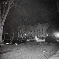 President Kennedy's body returns to the White House at nearly 4:30 a.m. on November 23, following an autopsy at Bethesda Naval Hospital. Clint Hill, Mrs. Kennedy's Secret Service agent rode with her in the white ambulance carrying the casket. Only after the casket was placed in the East Room did she retire to her private quarters and remove the blood stained raspberry suit.