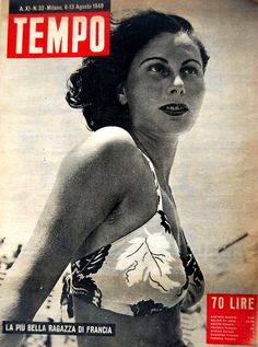 """French model Juliette Figueras, """"Miss France 1949"""": """"The most beautiful girl in France"""" (6th August 1949). Juliette Figueras was also crowned """"Miss Paris 1948"""" and """"Miss Europe 1949""""."""