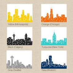 NYC Chicago Seattle Boston Minneapolis or Calgary by StelieDesigns, $20.00