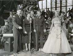 WWII - Frances Langford entertaining the troops