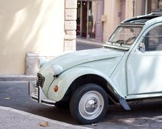 French mint retro car photography print 2CV Citroen Provence France Fine Art print Chic home decor wall art pastel poster lifestyle 8x10