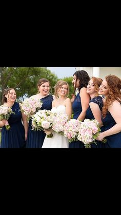 One of my favourites! Navy Bridesmaids, Clear Lake in August Wedding Navy Bridesmaids, Bridesmaid Dresses, Wedding Dresses, Wedding Makeup, Wedding Bride, Wedding Day, Kingston Ontario, Destination Wedding Locations, Clear Lake