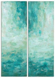 Reminiscent of the turquoise water, this Haven Abstract Art takes you to a dream paradise resort. $283.80. Buy here.