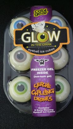 Eyeball Ice Cubes Glow in the Dark Halloween 6 per Package #CoolGear