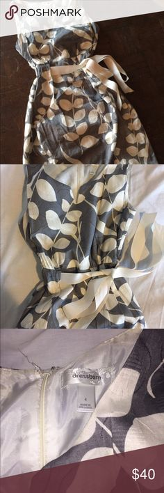 Dress Barn Gray Dress In great USED condition. Size 4 Dress Barn Dresses