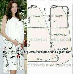Maternity Dress Pattern, Maternity Sewing, Diy Couture, Couture Sewing, Dress Tutorials, Sewing Tutorials, Sewing Clothes, Diy Clothes, Clothing Patterns