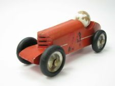 RARE VINTAGE WOOD WOODEN 24 RACER MODEL CAR TOY