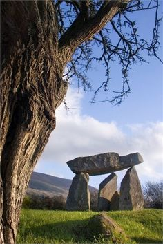 The ancient Ballykeel Dolmen by unknown author. Repinned by WI/IE. _____________________________Do feel free to visit us on http://www.wonderfulireland.ie/east/newry/#/ for lots more pictures and stories of beautiful Ireland.