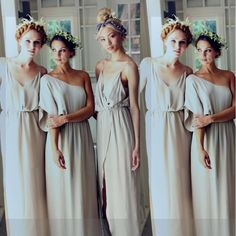Cheap Bridesmaid Dresses Under 50 Custom Made Bridesmaid Dresses 2016 Spaghetti Sheath Front Slit Chiffon Maid Of The Honor Gown For Wedding Beach Bohemian Evening Party Maxi Cheap Bridesmaids Dresses From Whiteone, $79.88| Dhgate.Com