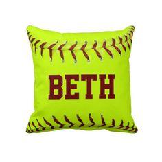 Personalized Softball American MoJo Pillows  so cute!