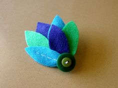 peacockinspired fascinator made from ecofriendly felt by FuzzyRose, $12.00