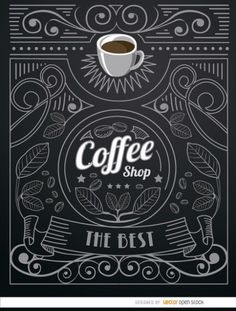 Vintag coffee shop label Free Vector