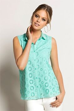 Mint Broderie Anglaise