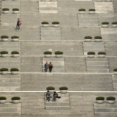 EHWA STEPS Steps near library, Ewha Women's University, Seoul. By matthew crompton