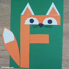 F for Fox – Letter F craft and activities for preschool - letter crafts preschool alphabet Letter F Craft, Preschool Letter Crafts, Alphabet Letter Crafts, Abc Crafts, Preschool Projects, Preschool Learning Activities, Daycare Crafts, Alphabet Activities, Preschool Activities