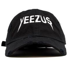 Yeezus Tour Black Vintage Distressed Dad Hat 38a68c8542f4