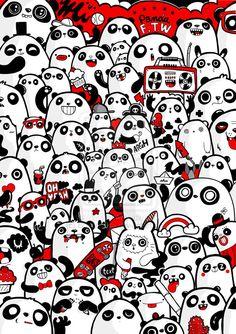 panda poster by bobsmade #panda #poster #bobsmade
