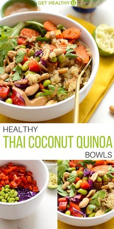 We are all about buddha bowls lately. And we can definitely jive with this healthy Thai coconut quinoa bowl!