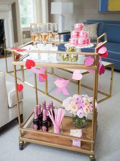 Valentine's Day Bar Cart - Fashionable Hostess | Fashionable Hostess