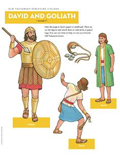 Scripture Figures, David and Goliath