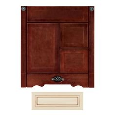 Architectural Bath Remington Vanilla Chocolate Transitional Bathroom Vanity Common 30 In X