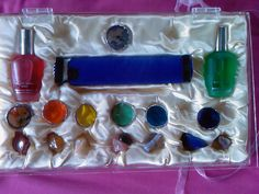 Colour Therapy Healers Kaleidoscope box set, with kaleidoscope colour and crystals and Aroma sprays Colour Therapy, Box Sets, Sprays, Napkin Rings, Crystals, Color, Colour, Crystal, Crystals Minerals