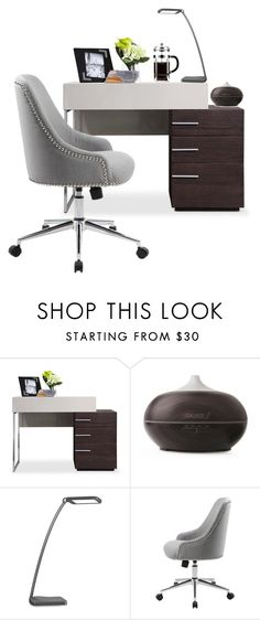 office by ioakleaf on Polyvore featuring interior, interiors, interior design, home, home decor and interior decorating