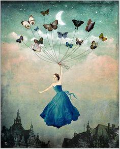 The Beautiful Art of Christian Schloe | blue butterflies