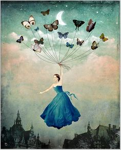 The Beautiful Art of Christian Schloe | blue butterflies