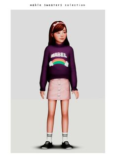 Sims 4 Cc Skin, Sims 4 Mm Cc, Sims Four, Sims 4 Mods Clothes, Sims 4 Clothing, Mabel Sweater, Tumblr Sims 4, The Sims 4 Bebes, Sims 4 Stories