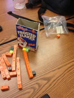 Students can better understand volume through this activity of using small cubic blocks to find the volume of a cereal box. Math Lesson Plans, Math Lessons, Math Help, Math 2, Math Classroom, Future Classroom, Classroom Ideas, 5th Grade Activities, Math Measurement