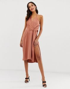 Buy ASOS DESIGN minimal drape midi dress in satin at ASOS. With free delivery and return options (Ts&Cs apply), online shopping has never been so easy. Get the latest trends with ASOS now. Bridesmaid Dresses, Wedding Dresses, Bridesmaids, Asos Dress, Mi Long, Fashion Online, Latest Trends, Fitness Models, Wrap Dress